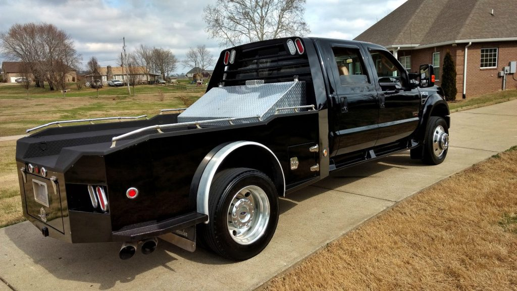 Ford Dually Rims >> 2008 Ford F 450 Lariat Crew Cab Diesel Hauler for sale