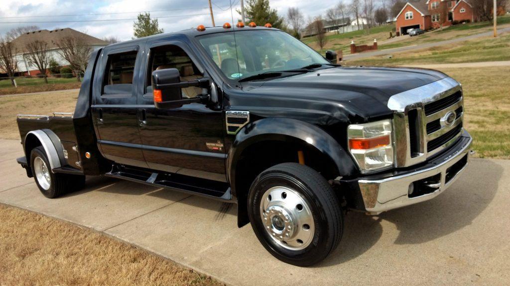 2008 ford f 450 lariat crew cab diesel hauler for sale. Black Bedroom Furniture Sets. Home Design Ideas
