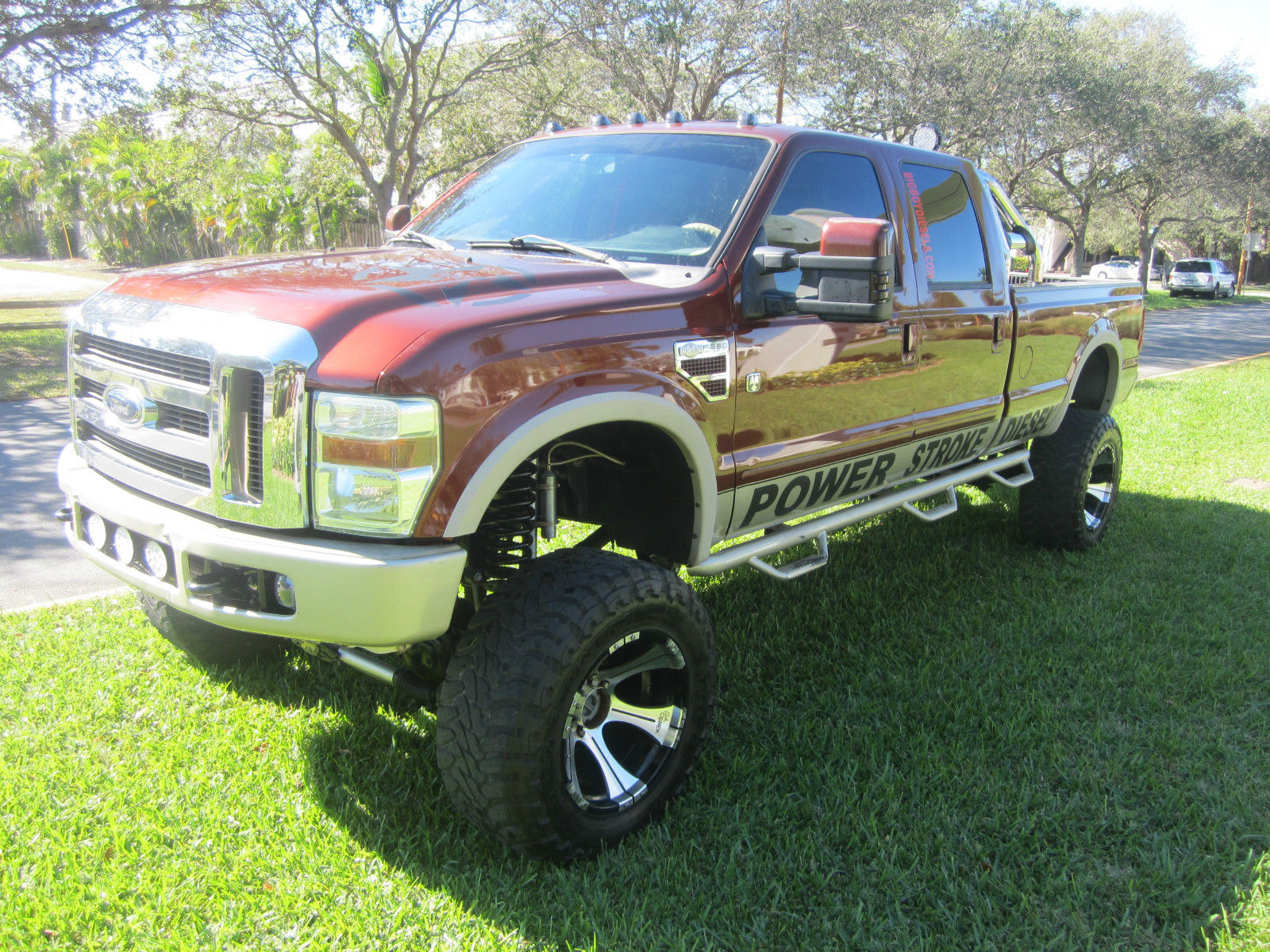 lifted 2008 ford f 350 king ranch crew cab 6 4l for sale. Black Bedroom Furniture Sets. Home Design Ideas