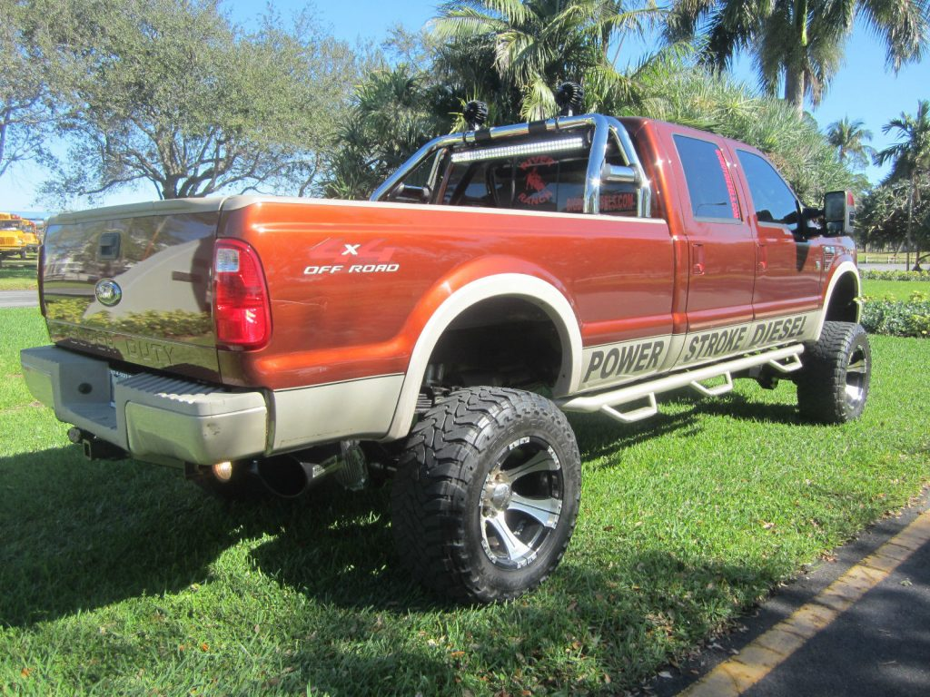 Lifted 2008 Ford F 350 King Ranch Crew Cab 6.4L