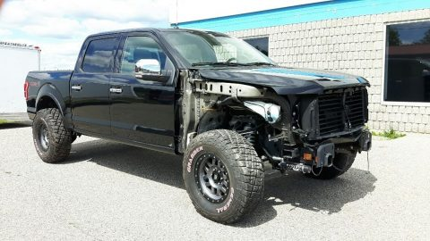 Damaged 2015 Ford F 150 Lariat Crew Cab for sale