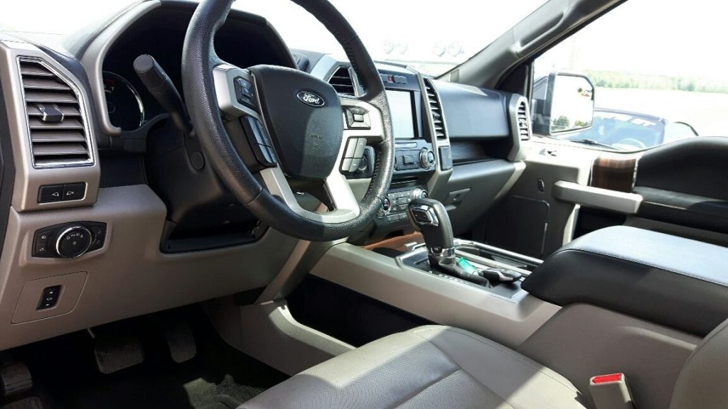 Damaged 2015 Ford F 150 Lariat Crew Cab