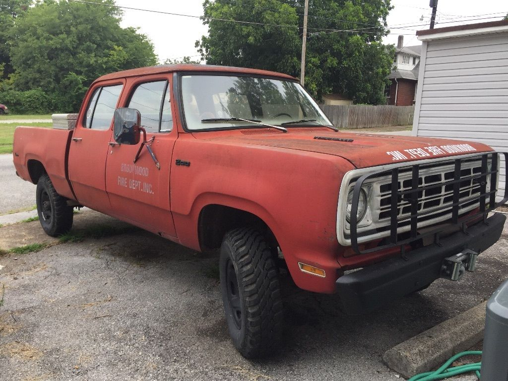 rare 1975 dodge power wagon crew cab for sale. Black Bedroom Furniture Sets. Home Design Ideas