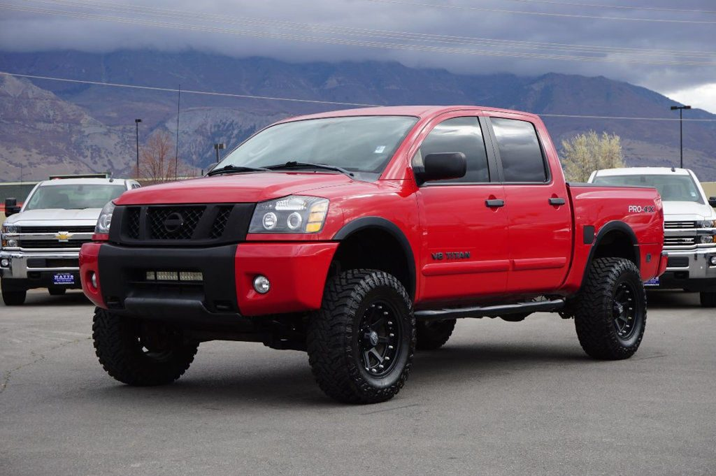low miles 2011 nissan titan pro 4x crew cab for sale. Black Bedroom Furniture Sets. Home Design Ideas
