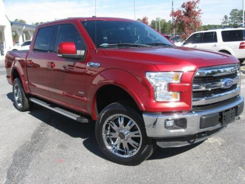 low mileage 2015 Ford F 150 Lariat crew cab for sale