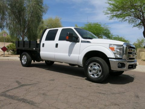 well equipped 2015 Ford F 350 4 Wheel Drive Crew Cab Flat Bed for sale