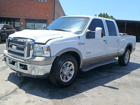 front damage 2005 Ford F 350 Super Duty King Ranch crew cab for sale