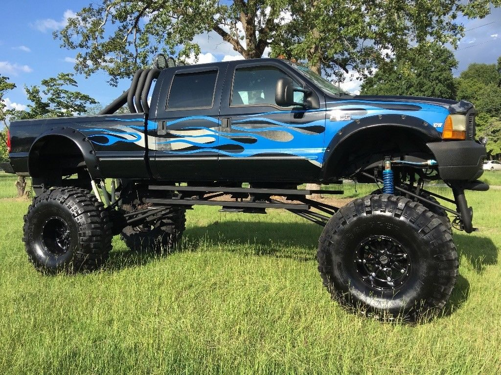well customized 1999 Ford F 250 Diesel crew cab