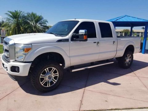 well equipped 2014 Ford F 250 Platinum king Ranch Lariat crew cab for sale