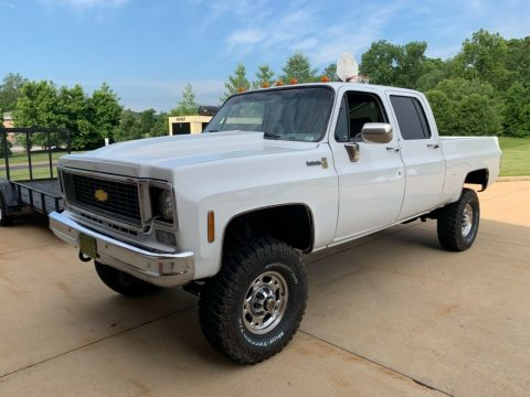 new engine 1976 Chevrolet 2500 Pickup crew cab for sale