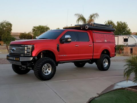 very low miles 2018 Ford F 250 Platinum crew cab for sale