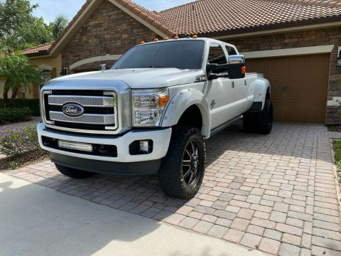 carefully maintained 2011 Ford F 350 Platinum crew cab for sale