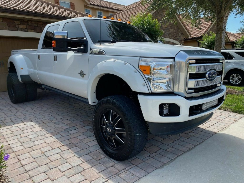 carefully maintained 2011 Ford F 350 Platinum crew cab